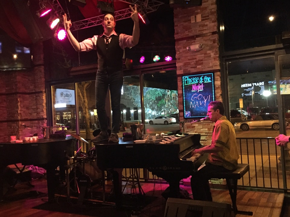 Tommy Sklut plays Dueling Pianos at 526 Main in  July