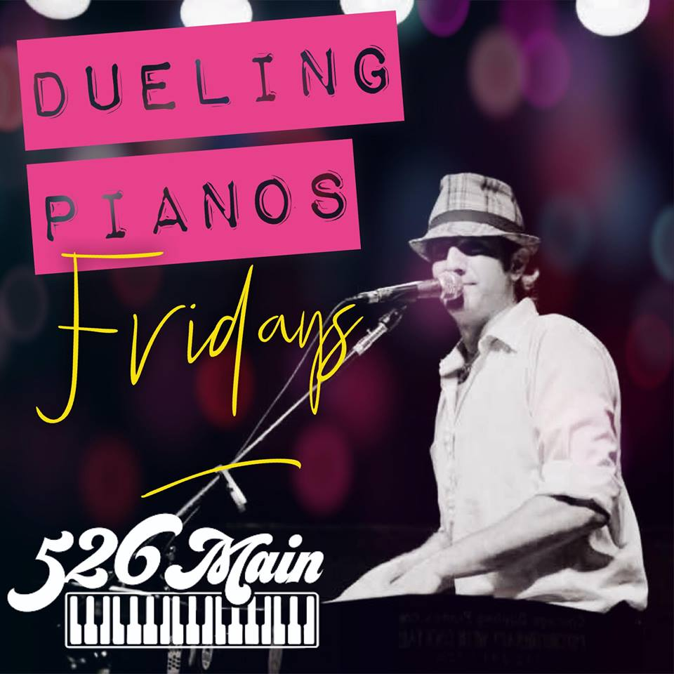 Tommy Sklut plays Dueling Pianos at 526 Main in Nov